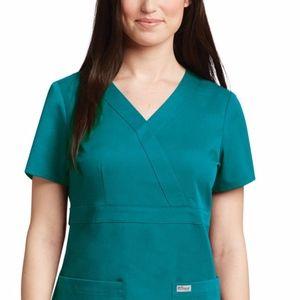 Grey's Anatomy Classic Women's Mock Wrap Scrub Top